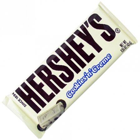 Hershey's Cookies 'n' Creme Candy Bar - Kids Favorite Snacks 1.55 Oz (Pack of 6) -