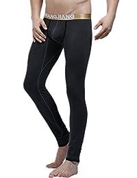 Men's Comfortable Base Layer Modal Low Rise Long johns Thermal Pant Underwear