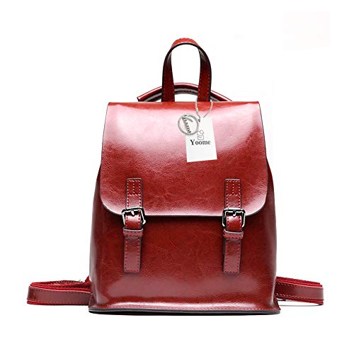 Bag Girls Women Bga Burgundy Vintage Wax for Oil Backpack Purse School for Yoome Leather Travel Multifunction TUCvqx7x