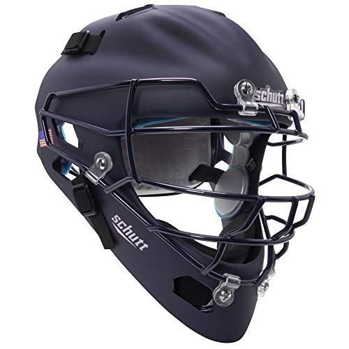 Schutt Sports Air MAXX Hockey-Style Catcher's Helmet with Steel Faceguard Matte Navy - Helmet Pj Style