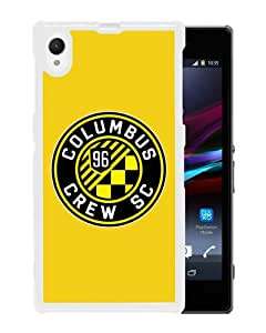 Beautiful And Unique Designed Case For Sony Xperia Z1 With Columbus Crew 13 white Phone Case