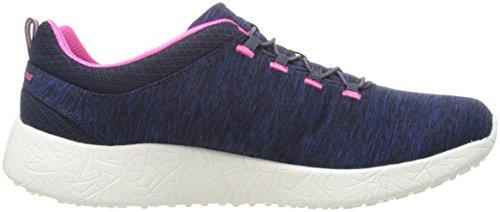 Hot Skechers Burst Pink Women's Sneaker Equinox Sport Fashion Navy xf0qa
