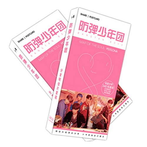 - BTS Bangtan Gifts Set for Army - BTS 2019 New Album - MAP of Soul Persona 30Pcs Postcards, 30Pcs Small Book Mark | 280PCS BTS Stickers