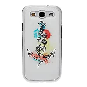 RC - Anchor Drawing Pattern Neutral Stiffiness Silicone Gel Back Case Cover for Samsung Galaxy S3 I9300