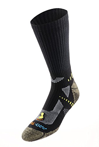 Pro-Tect Men's Extreme Fitness 2-Pack Crew Cut Socks (Large, Black)