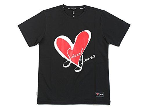 シャワー文房具日記コラボ オリジナルハートロゴTシャツ(カラ—) BLACK L
