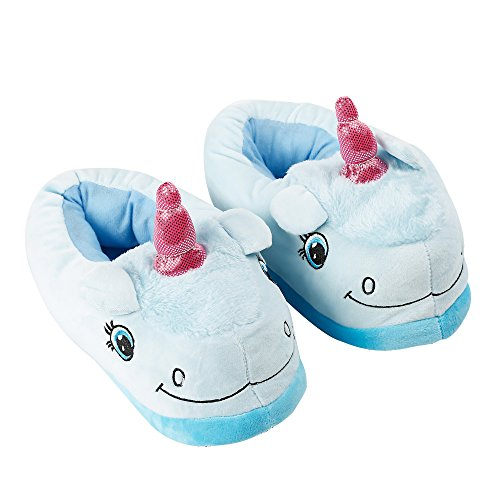 Pantofole Di Unicorno Peluche Adulto Adulto Pantofole Invernali Casa Coperta Pantofole Calde Scarpe Mocassini Pantofole Blu