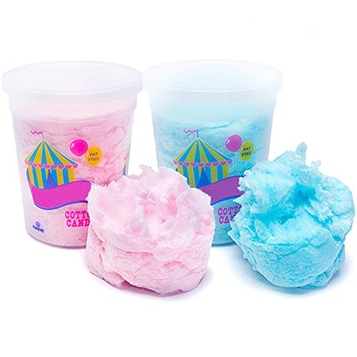 JustSnackin' Cotton Candy, 2 - Tubs (2 ounces every) 4 ounces Total, Blue and Pink, Treat Ideas Included by way of JustHangin' Copyright 2019