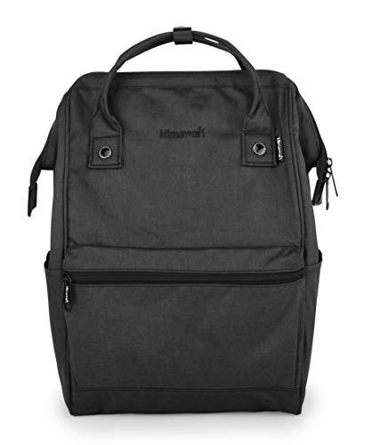 Himawari Travel Backpack Laptop Backpack Large Diaper Bag Doctor Bag Backpack School Backpack for Women&Men (H2261-L Black)