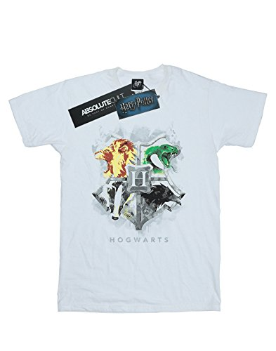 Painted Homme Harry shirt Hogwarts Potter T Crest Blanc 4ww8txq