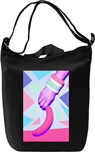 Pop Art Banana Borsa Giornaliera Canvas Canvas Day Bag| 100% Premium Cotton Canvas| DTG Printing|