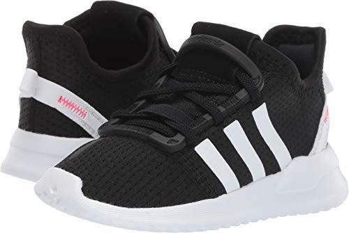 adidas Originals Baby U_Path Running Shoe, Black/White/Shock red, 8K M US Toddler