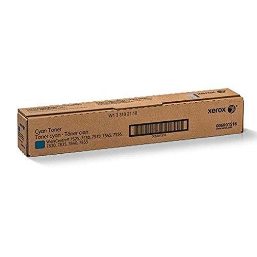 Xerox 006R01516 OEM Toner - WorkCentre 7525 7530 7535 7545 7556 7830 7835 7845 7855 Cyan Toner (15000 Yield)