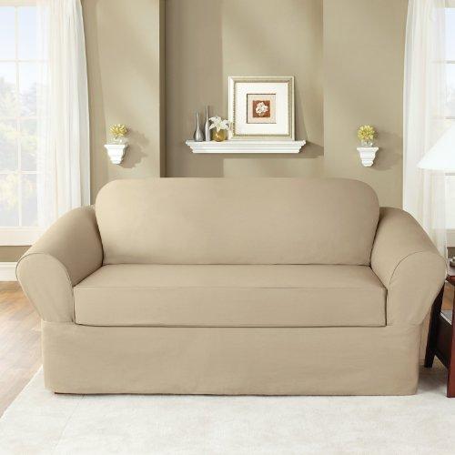 (SureFit Twill Supreme Universal - Sofa Slipcover  - Flax (SF35378))