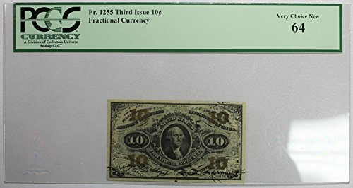 Fr. 1255 Third Issue 10c. Fractional Currency PCGS Very Choice New 64