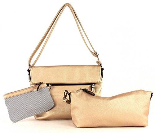 twinbag Borsetta mit Überschlag Gold