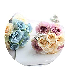 Sevem-D New Bride Bouquet 1 Set Hybrid Phalaenopsis Wedding Decoration Silk Flower Artificial Flowers for Home 25