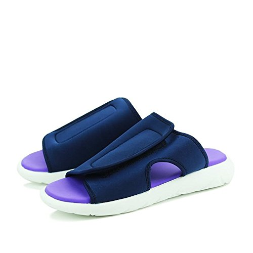 EU con uomo tacco 39 shoes da skater da Sandali da moda da 2018 Scarpe uomo bianco Uomo slip Blu Nero Xujw Color alla piatto e Dimensione qvASwx