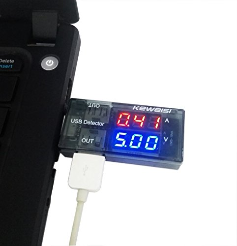 5A/9V LED Display Multi Tester Dual USB Output Current Detector for Phone Charger, Power Bank