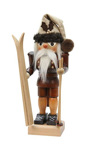 German Christmas Nutcracker Skidriver natural colors - 25,5cm / 10 inch - Christian Ulbricht by Christian Ulbricht