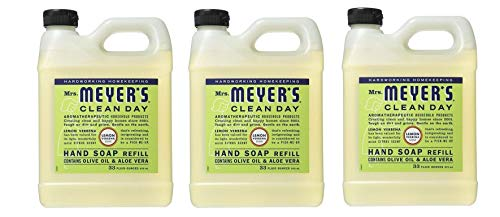 Mrs Meyers Liquid Hand Soap, Refill, Lemon Verbena Scent (Pack of 3) ()