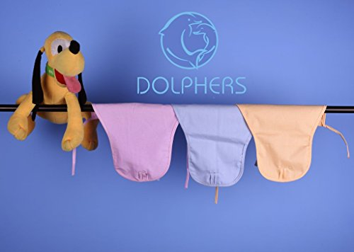 DOLPHERS Baby's Cotton Cloth Diapers/Langot Double Layer U Shaped Washable and Reusable Nappies (Multicolour, 0-6 Months) Pack of 12 Pieces