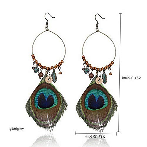 Waldenn Women Wedding Charm Boho Vintage Dreamcatcher Drop Dangle Hook Earrings Jewelry | Model ERRNGS - 12723 |]()