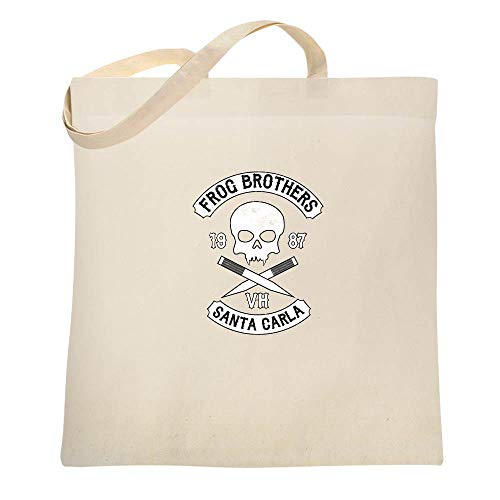 Frog Brothers Santa Carla Halloween Costume Horror Natural 15x15 inches Canvas Tote Bag for $<!--$9.99-->