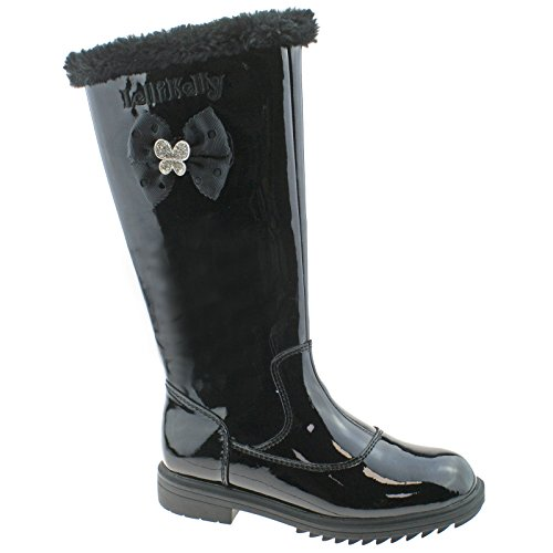 uk Boots 12 5 db01 Kelly Fur Lk7658 Vernice Frances Lelli Nero Lined 31 Uxv8w