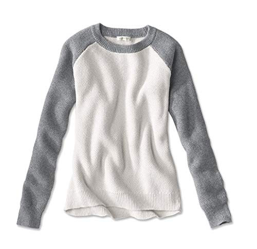 Orvis Women's Homecoming Colorblock Sweater, Heather Gray, X Small