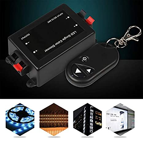 ouying1418 12V RF Wireless Remote Switch Controller Dimmer for Mini LED Strip Light