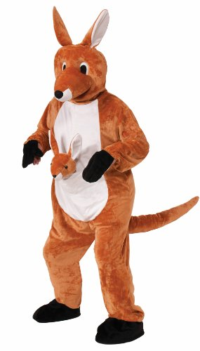 [Forum Novelties Women's Jumpin Jenny The Kangaroo Plush Mascot Costume, Brown, One Size] (Animal Halloween Costumes Men)