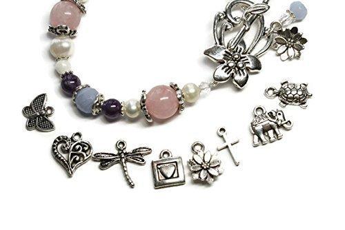 Add on CHARMS for your bracelet- Elephant, Butterfly, Heart, Turtle, Cross, Kokopelli, Dragonfly, Flower, Believe charm