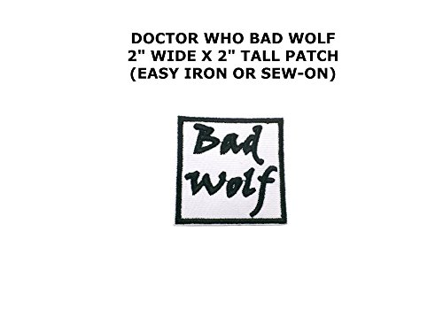 Dr. Who Bad Wolf Iron or Sew-on (Bad Wolf Dr Who Costume)