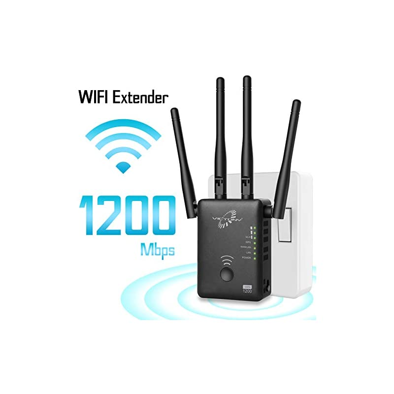 VICTONY 1200Mbps WiFi Repeater for 2.4G