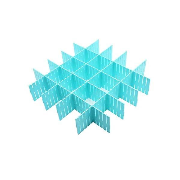 41cCNwj%2BHSL WeFoonLo 8pcs DIY Plastic Drawer Organizer Verstellbare Schubladenunterteiler für ordentliche Schränke, Socken…