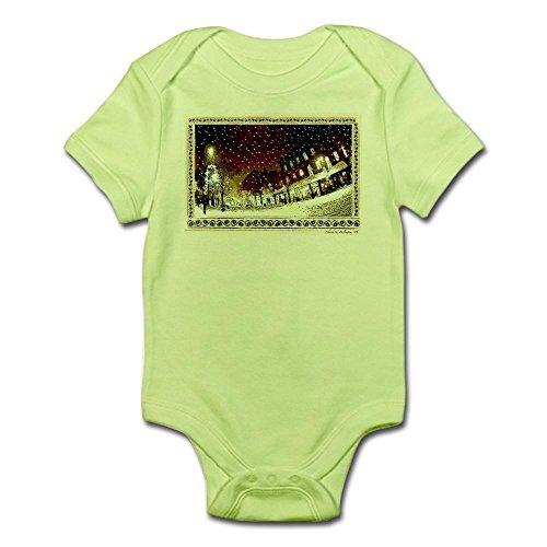 CafePress Wintery Church ST. Infant Creeper - Cute Infant Bodysuit Baby - Church Street Burlington Vt 2