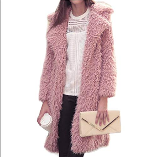 Warm Cardigan Yying Loose Coat Rosa Donna Long Outwear Solid Knitted Sleeve CPpqT