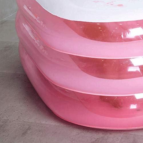 Kk ポータブル折り畳み式のアダルトSPAインフレータブルバスタブ無料立ち電動エアーポンプ付きバスタブ(ピンク)
