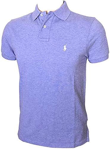 Polo Ralph Lauren Mens Custom Slim Fit Polo Shirt (S, Purple Heather)