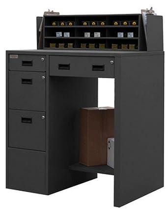 durham 16 gauge steel stationary file work station and stand up desk sfws 392955 95 science. Black Bedroom Furniture Sets. Home Design Ideas