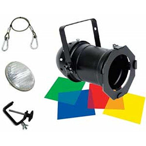 American DJ 46 Black Combo | 1 x black par 46, 1 x 200W lamp, 4-pak color gel filters, gel frame, clamp & safety ()