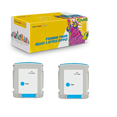 New York TonerTM New Compatible 2 Pack C4804A HP 12 High Yield Inkjet For HP Businessjet 3000 . -- Cyan