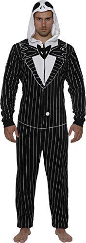 Disney Men's Jack Skellington Hooded Union Suit, Nightmare Before Christmas, Size Small/Medium (Christmas Costumes Nightmare Before Couples)