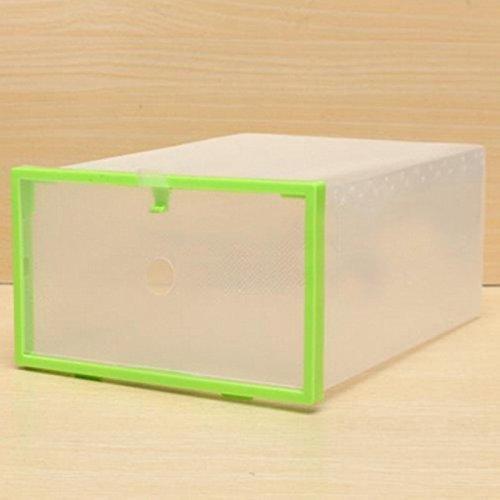 Huaran - Caja de Almacenamiento de plástico para Zapatos Sundries, Caja de Almacenamiento de Alimentos, cajón apilable...
