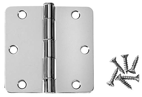 - 24 Pack - Cosmas Polished Chrome Door Hinge 3.5