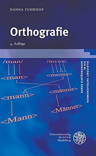 Orthografie (Kurze Einführungen in die germanistische Linguistik - KEGLI, Band 1) Taschenbuch – 1. November 2015 Nanna Fuhrhop 3825365581 Deutsch Deutschland