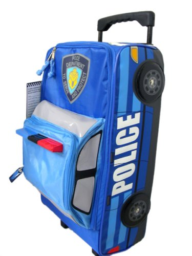 74be08c41730 Amazon.com  Kids travel luggage - Police Car shaped Suitcase  Toys   Games
