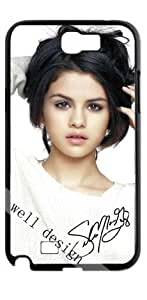 Selena Gomez Signed HD image case for Samsung Galaxy Note 2 N7100 black + Card Sticker by ruishername