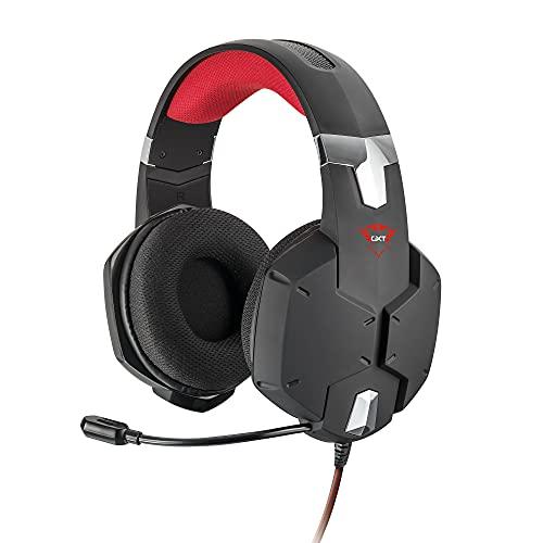Trust Cascos Gaming GXT 322 Carus Auriculares Gamer con Micrófono Flexible y Diadema Ajustable, Cable de 1 m, para PS4, PS5, PC, Nintendo Switch, Xbox One, Xbox Series X - Negro